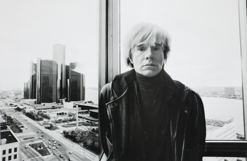 Michelle Andonian, American (born 1958), Andy Warhol in Detroit, 1985 (printed 2008); ink jet print. Gift of Michelle Andonian in honor of Joy Hakansen Colby (T2008.136), © Michelle Andonian.