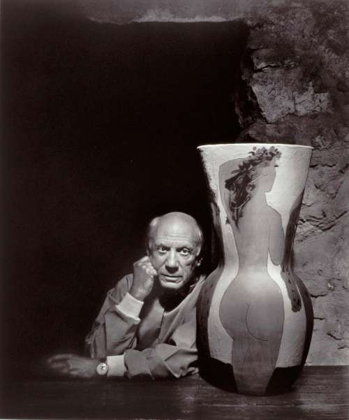 Yousuf Karsh, Pablo Picasso, 1954 (printed later); gelatin silver print. Gift of Estrellita and Yousuf Karsh in honor of Governor James and Mrs. Janet Blanchard, © Estate of Yousuf Karsh.