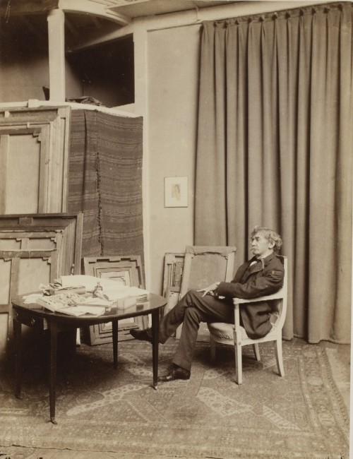 Whistler in His Paris Studio at 106 Rue Notre Dame des Champs, 1892, by Dornac Studios (Paul Cardon)