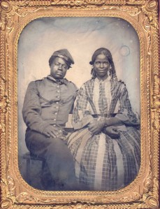 Unknown Photographer, Soldier and Companion, 1861-65, tintype.